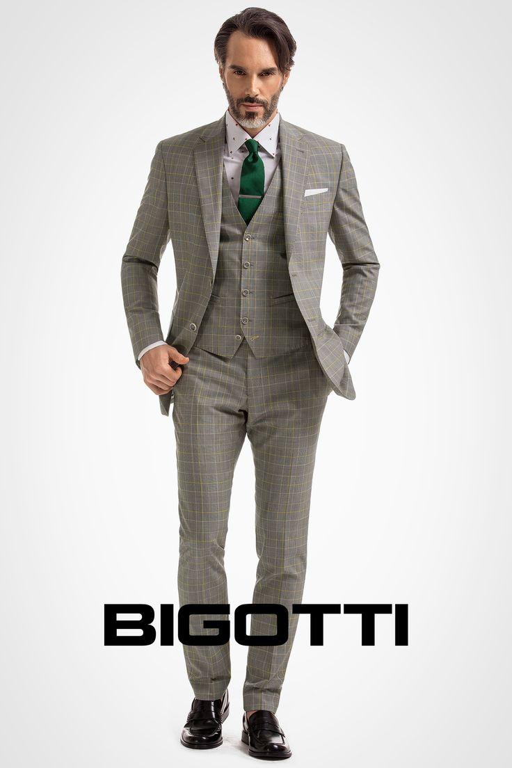 #Slim #cut #three – #piece #suit is a #modern #twist on #classic #dressing  20% OFF on https://www.bigotti.ro/costume-barbati and in #Bigotti #men #clothing #stores