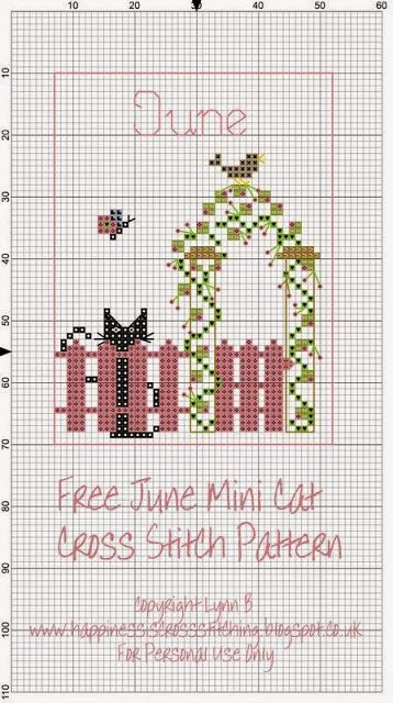 Happiness is Cross Stitching : June Mini Cat Pattern - Out now!