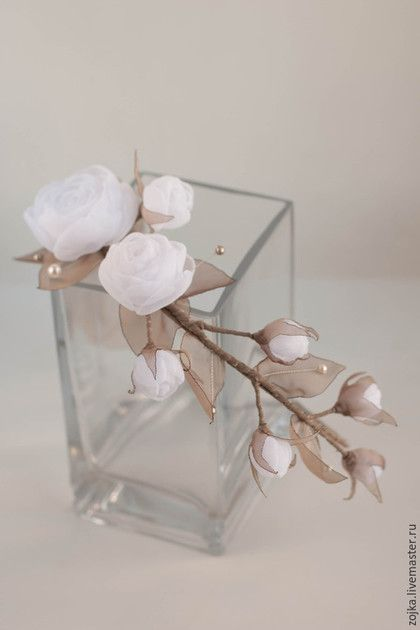 Beautiful handmade bridal rose coronet by Zojka Botanica. With Swarowski pearls. Click through for the shop