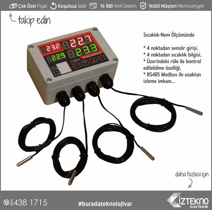 İztekno Elektronik tarafından geliştirilen Sıcaklık-Nem Transmitterleri | www.iztekno.com.tr 'de  #sıcaklıknemölçer #iztekno