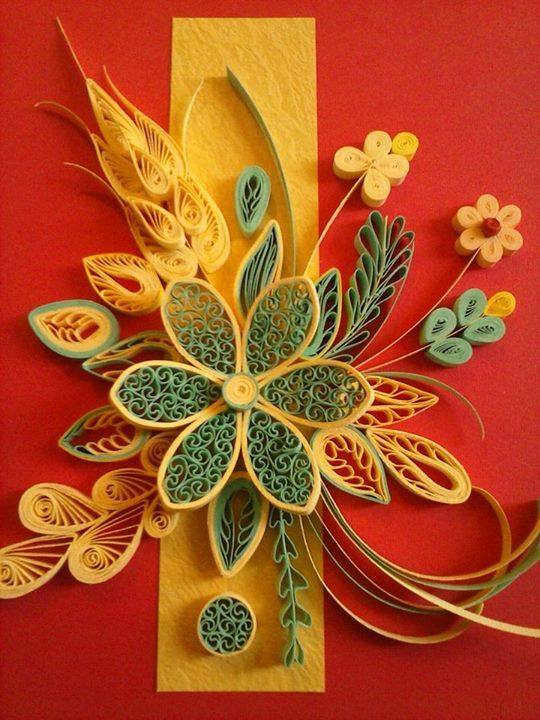 Gorgeous quilling, but I'd never have the patience!