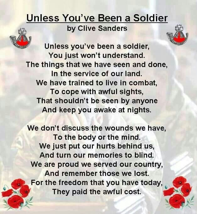 Rememberance. I am not a solider but to whomever is, thank you for your service <3