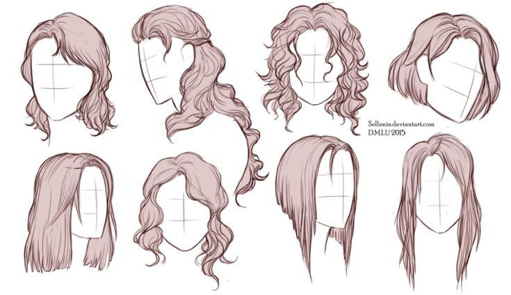 Hairstyle Reference Drawing In 2020 How To Draw Hair Hair Reference Long Hair Drawing