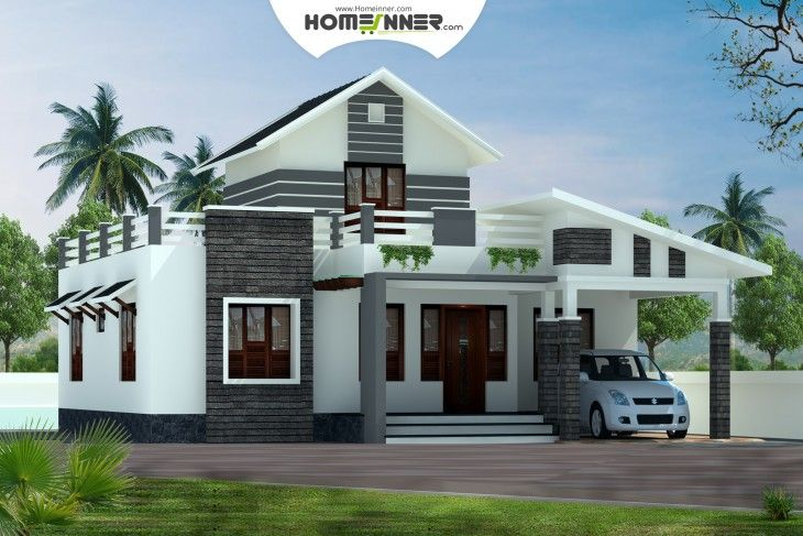 2 Bedroom Home For 14 Lakhs Low Budget Kerala Home Designs House Plans Between 750 And 8 Single Floor House Design Minimalis House Design Kerala House Design