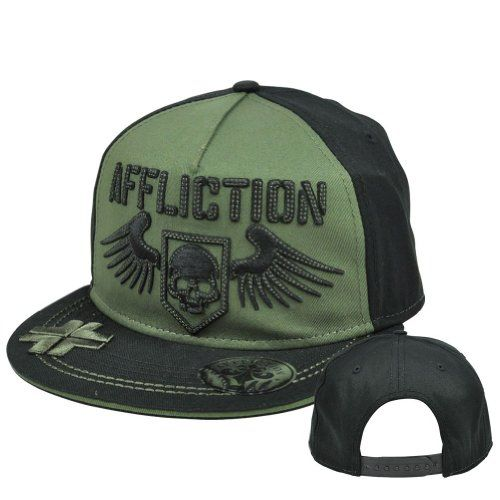http://www.hotlistsports.com Affliction Fashion Clothing Live Fast Skull Wings Snapback Flat Bill Hat Cap | What The Athletes are Sporting