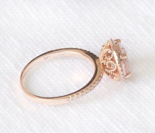 1.9CT peach champagne sapphire Rose gold by SheAndHimJewelry, love love love