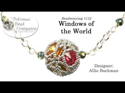 Windows of the World  - Pendant, Beaded Bead, Necklace, Earrings, Bracelet Tutorial - YouTube