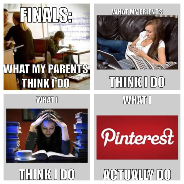 Finals week. So true. That's me. I pulled a nice A in pharmacology and got 98% on final. Highest in class. :) I must be doing something right.