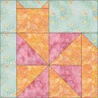 Pinwheel Cat - Free Quilt Block Pattern