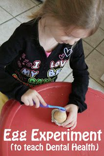A hands on way for preschoolers to learn why we brush our teeth. I don't have kids, but have plenty of friends who do!