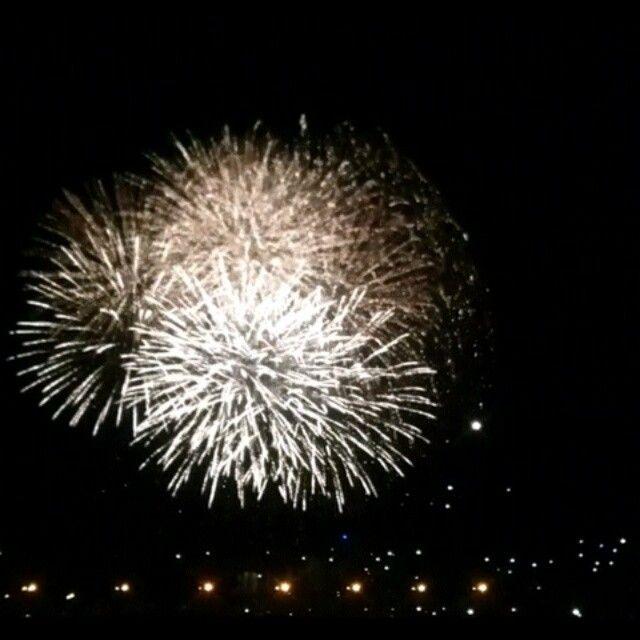 Wow! Fuochi d'artificio a Marina di Ravenna #racineravenna