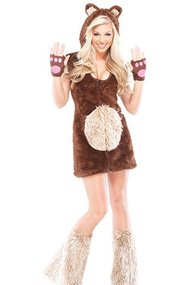 Teddy Bear Costume - Adult Costumes....Obviously I need it to not show as much...