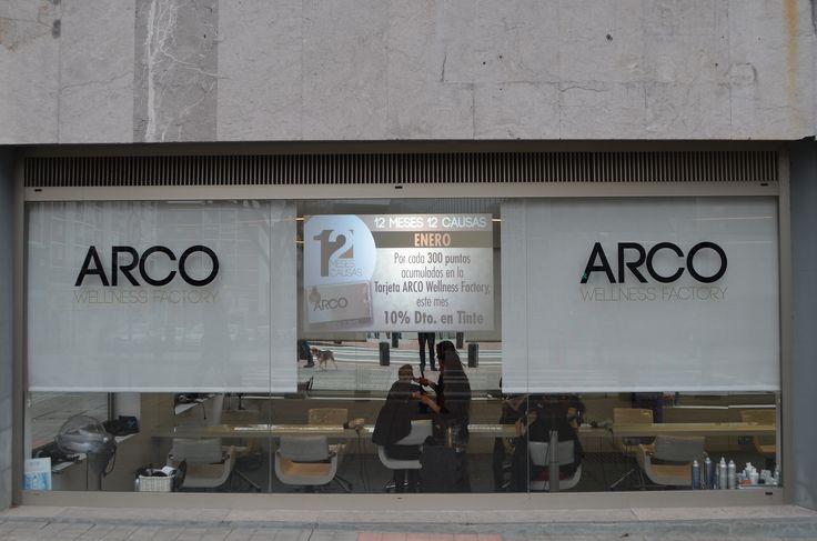 Nueva pantalla en la fachada de Arco Wellness Factory.