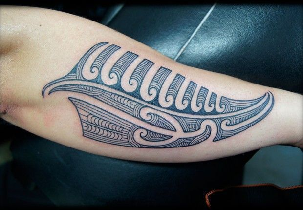 Custom New Zealand Maori Ta Moko Fern Kirituhi Silver Fern Forearm Tattoo Design In 2020 Tattoos Maori Tattoo Polynesian Tattoo