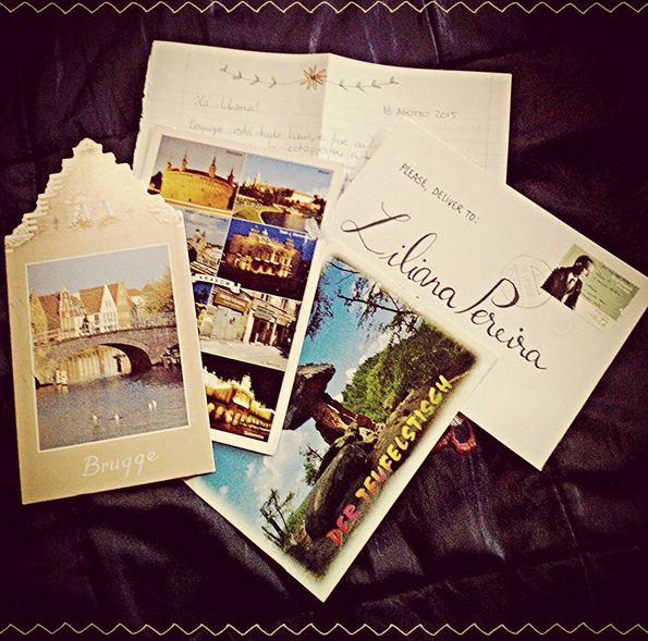 Incoming Happy Mail from Portugal and direct postcard swaps from Poland, Belgium and Germany