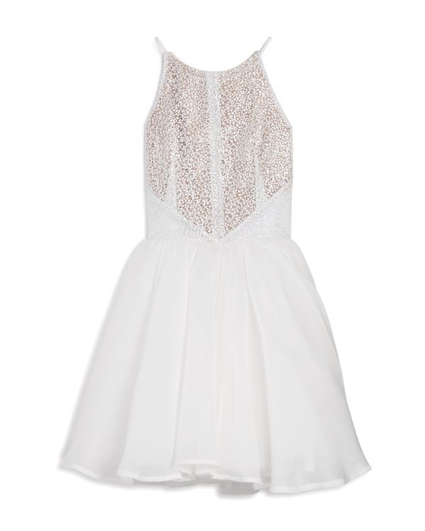 Miss Behave Girls' Margaret Lace Tulle Dress - Sizes 8-16
