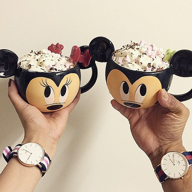 Mickey and Minnie Mouse Mugs!