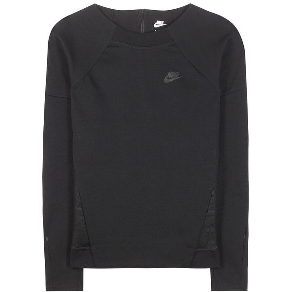 Nike Nike Tech Fleece Sweater (€97) ❤ liked on Polyvore featuring tops, sweaters, black, black fleece sweater, fleece tops, nike, nike sweater and black fleece top