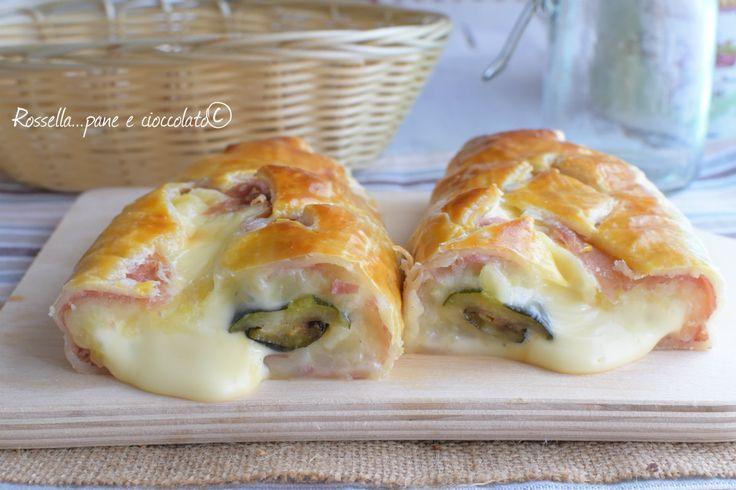 Rustico+primavera+patate+prosciutto+zucchine+e+formaggio