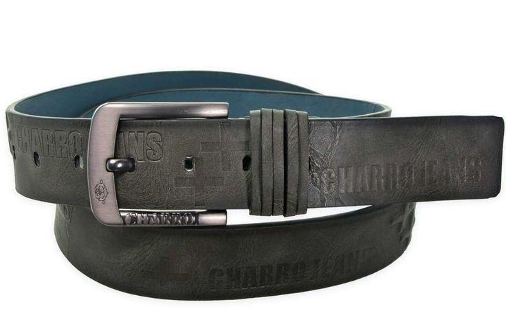Cintura uomo Charro Grey Rebirth C2021 110 cm con fibbia in nickel free