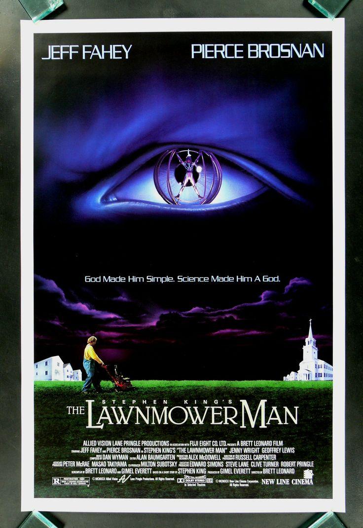 THE LAWNMOWER MAN * 1SH STEPHEN KING MOVIE POSTER 1992