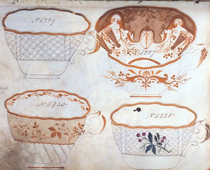 Design drawings for Spode c1846