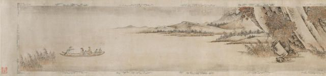 attributed to Qian Gu (1508-1578/87) Ode to the Red Cliff