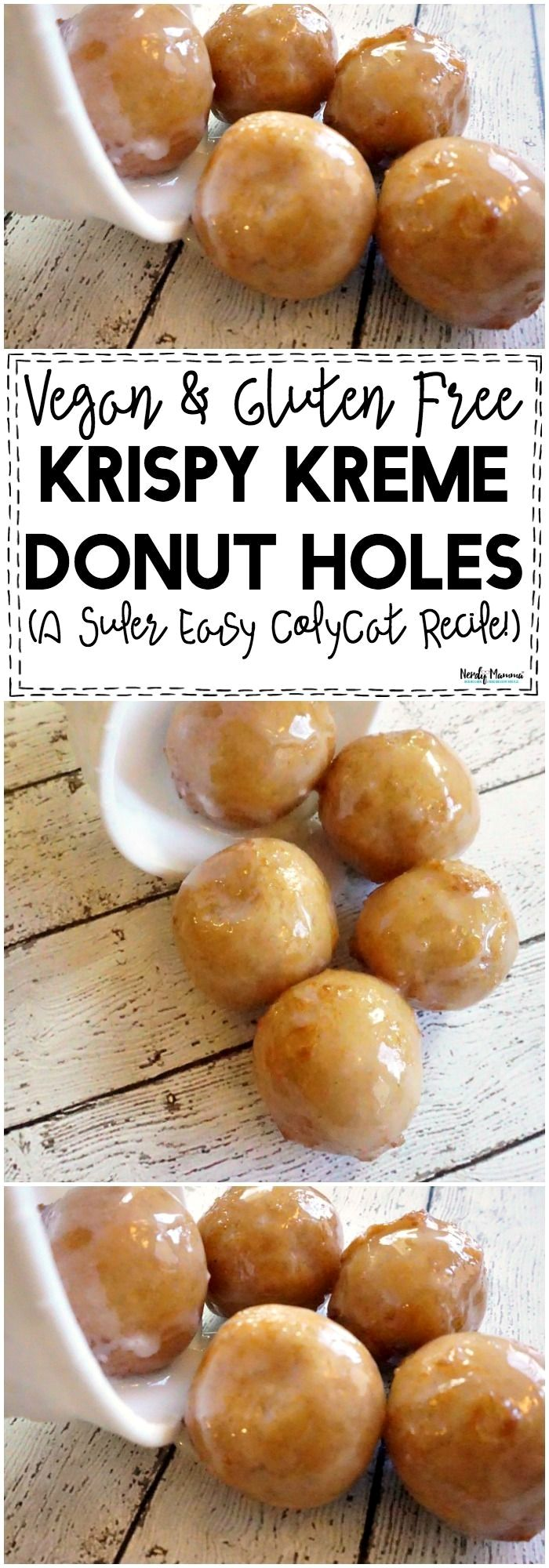 I. LOVE. This recipe for Vegan & Gluten-Free Krispie Kreme Donut Holes! It's like the best copycat ever.