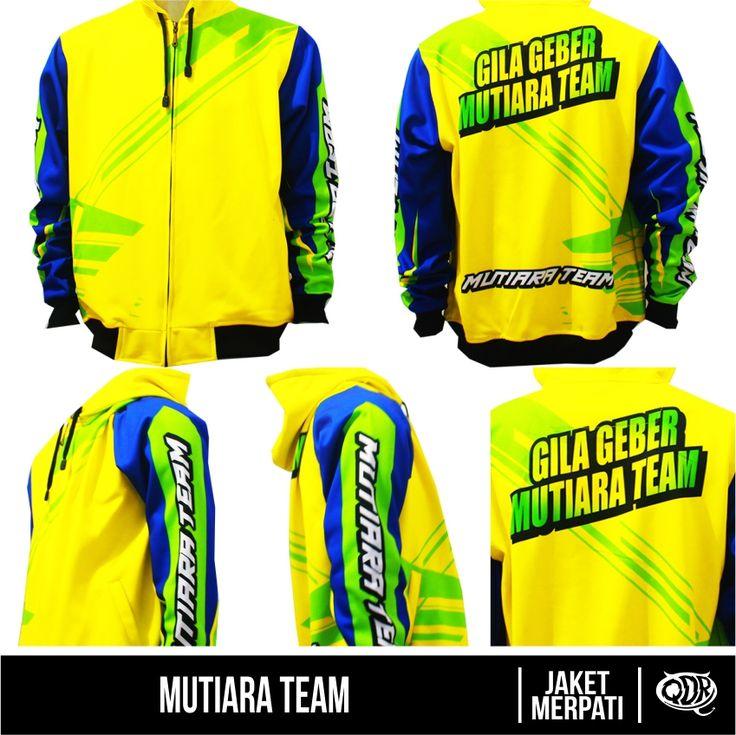 Mutiara Team (Jaket Merpati) Bahan: Dry-fit printing: sublimasi untuk pemesanan: BBM 543D3DBB Qdr online shop WA/LINE 081222970120