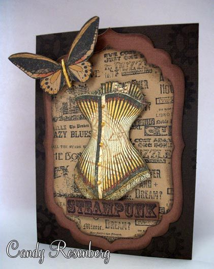 The Rubber Cafe.  Signature Stamps and Spellbinders.  Published in Just Steampunk.