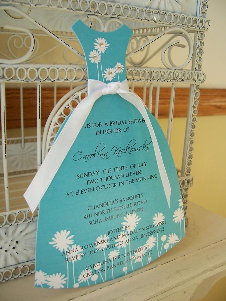 Tiffany blue dress invitation for bridal shower