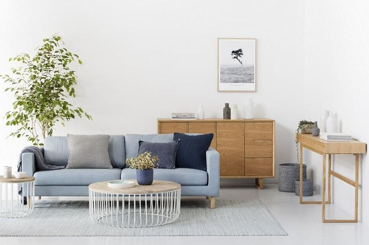 This side table works in a coastal, industrial or scandi space with its natural timber and steel frame.