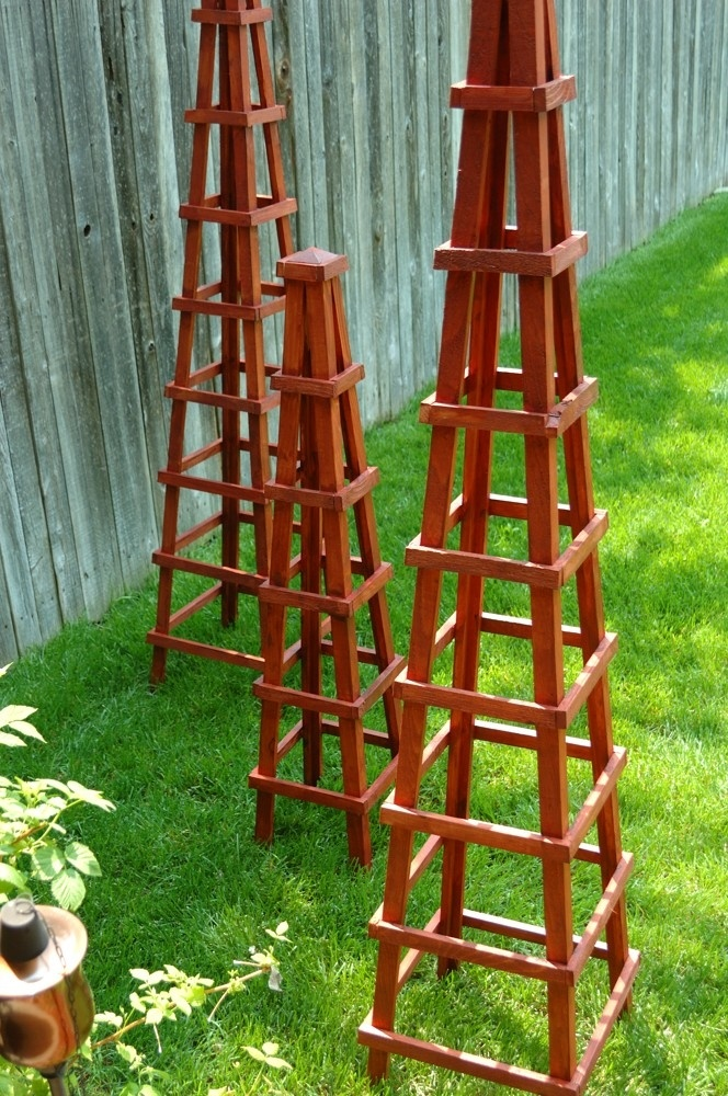 95 Best Images About Garden Obelisks On Pinterest