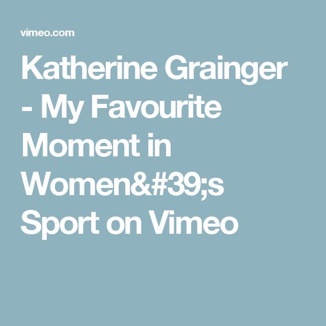 Katherine Grainger - My Favourite Moment in Women's Sport on Vimeo