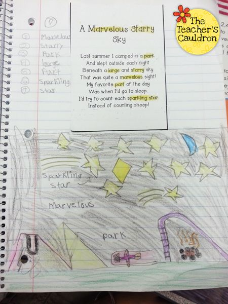 Poetry phonics journals from Teacher by the Beach on Swimming into Second