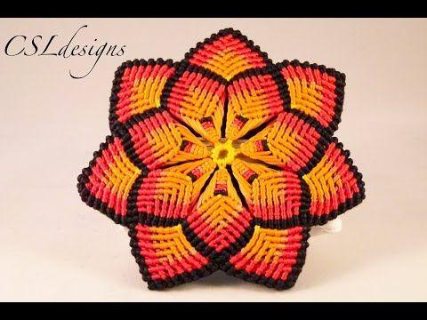 Macrame mandala flower - YouTube