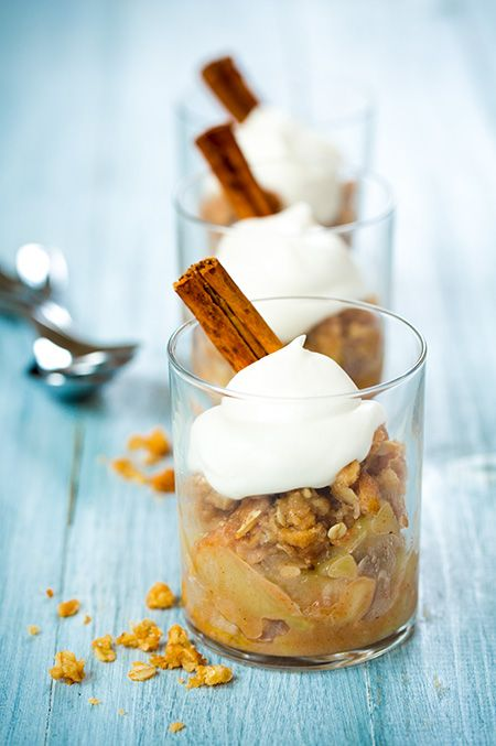Apple Crisp - this is the best apple crisp I've ever had! And I love the idea of serving it in cups.