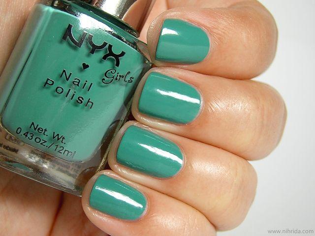 NYX Girls Nail Polish in Algae: Girls Nails, Nyx Polish, Polish Stash, Nail Designs, Nyx Nails, Polish Swatches