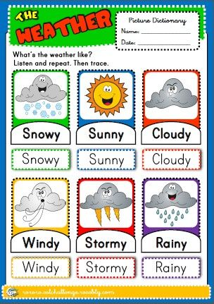 the weather - picture dictionary