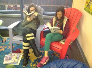 Curtis Elementary Library Media Center: Library Centers- great site for teaching ideas!