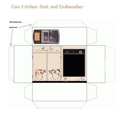 Cow kitchen Sink n dishwasher