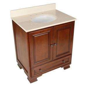 Picture Gallery For Website Vanity in Walnut with Vanity Top in Beige and Undermount Sink