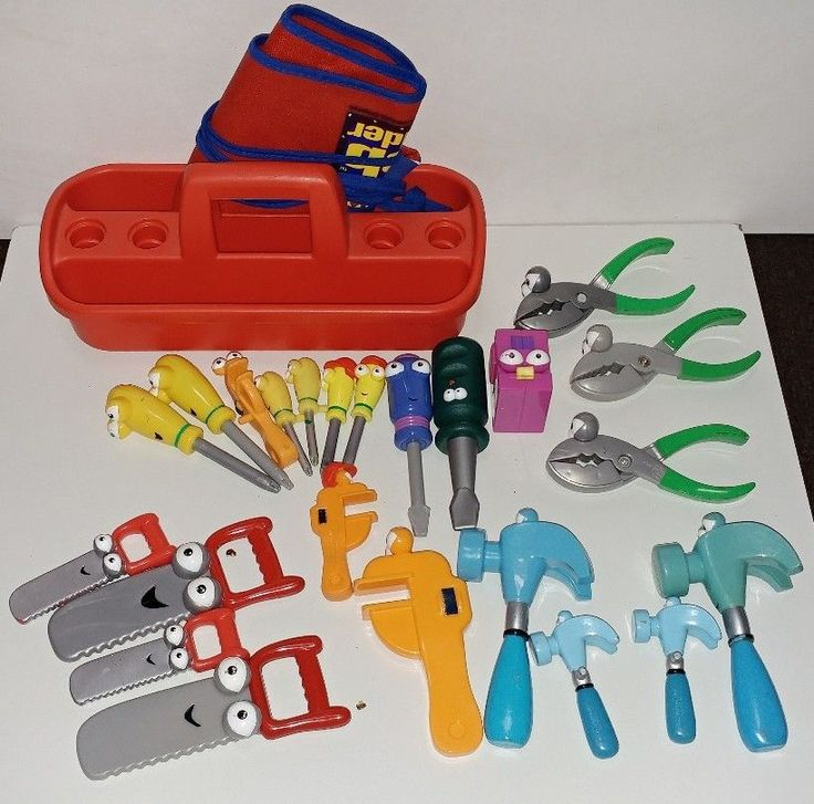handy manny tools plus bob the builder apron and toolbox