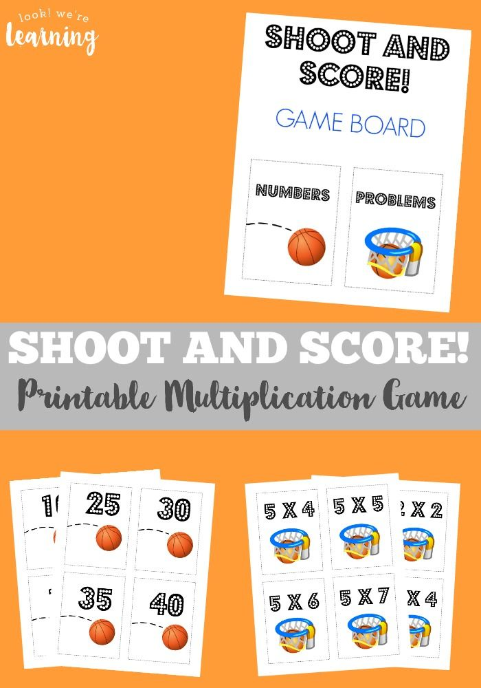 Make learning times tables a snap with this basketball-themed printable multiplication game!