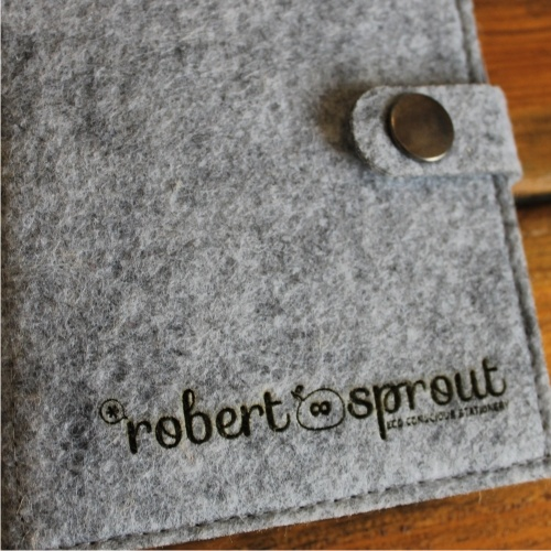 Robert Sprout felt notebook with eco friendly pen www.robertsprout.co.za