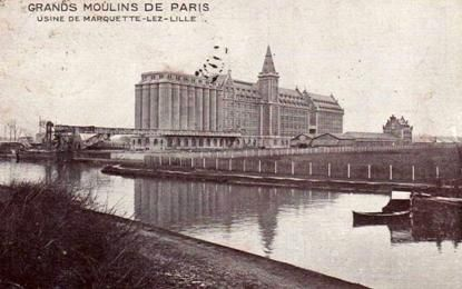 Les Grands Moulins de Paris on the edge of Roubaix canal