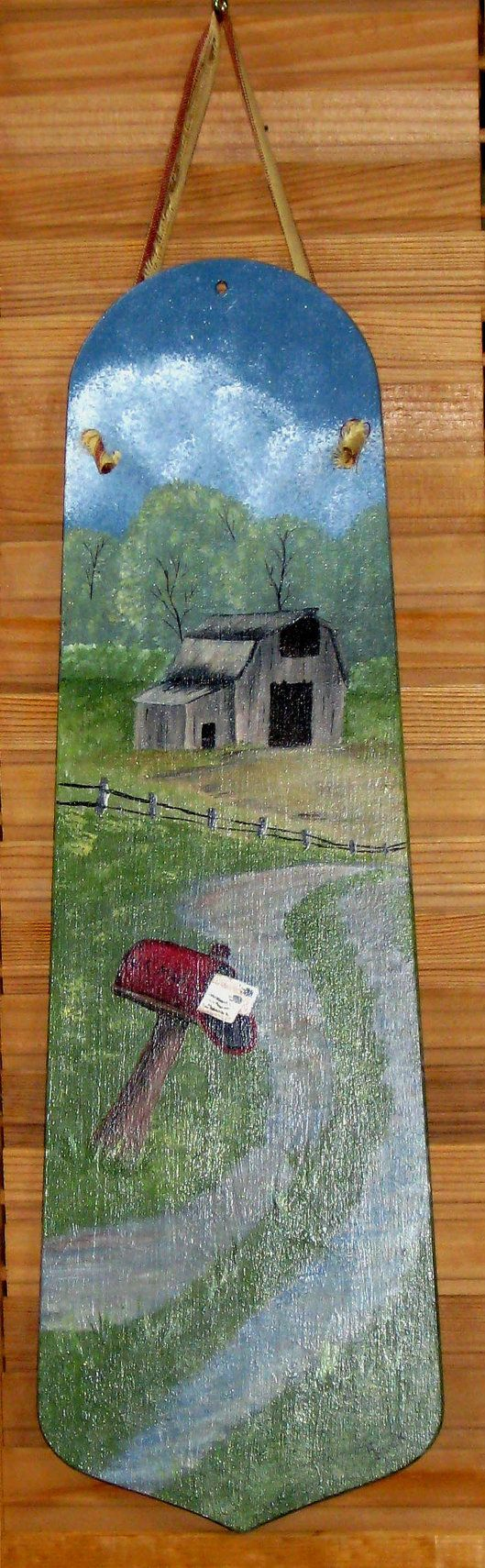 Barn Mailbox Handpainted Fan Blade by KathysKountry on Etsy