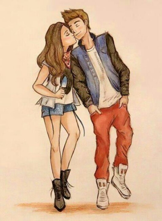 Couple kiss 3 draw pinterest kiss couples and drawings voltagebd Choice Image