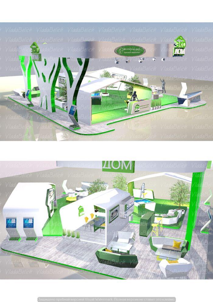 "Exclusive exhibition stand, Booth. Выставочный стенд для компании ""Эко Дом"" by Vlada Belich at Coroflot.com"