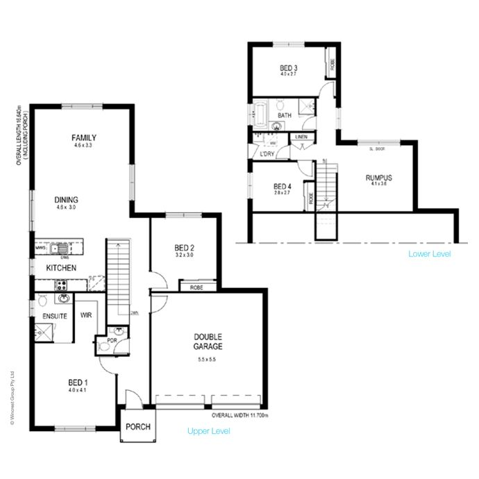 19 best narrow block plans images on pinterest Floor plans for sloping blocks